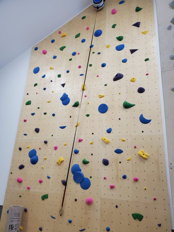 Home climbing wall and auto belay system