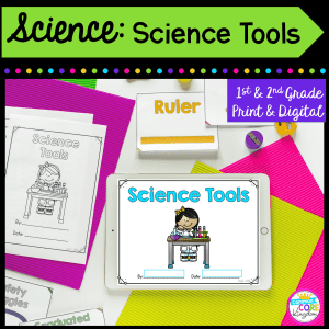 1st & 2nd grade science tools cover for digital and printable resource