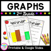 2nd Grade Graphs Cover with image of picture graphs and pencils on front