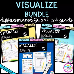 Visualize Bundle for 2nd - 5th Grade covers showing printable and digital worksheets