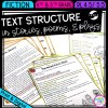 Text Structure in Stories, Poems and Plays for 4th & 5th grade cover showing printable and digital worksheets