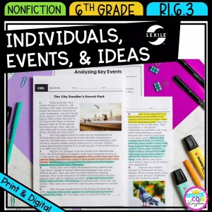 Key Individuals Events and Ideas for 6th grade showing printable and digital worksheets