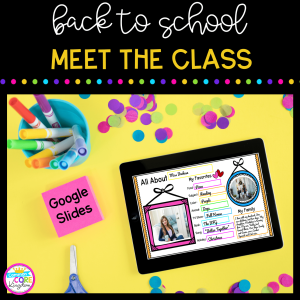 Back to School Meet the Class Freebie Resource for Google Slides Cover