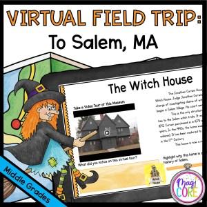 Virtual Field Trip Salem Witch Trials - Google Slides & Seesaw Format