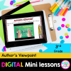 RL.3.6 Author's Viewpoint Digital Mini Lesson Cover showing use of digital resource on Google Slides