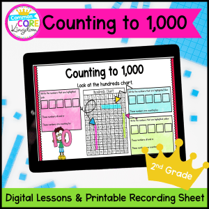 Digital Mini-Lessons for Counting to 1,000 for 2nd Grade