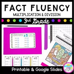 Fact Fluency for 3rd grades. Printable and Google Slides