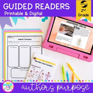 Author's Purpose Guided Reader cover for 3rd grade RI.2.6