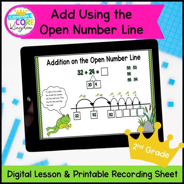 Adding Open NUmber Line Cover showing in a tablet