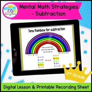 Mental Math Strategies: Subtraction in google slides and printable format