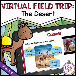 Virtual Field Trip to the Desert for 1st Grade in Seesaw & Google Slides Format with Answer Key