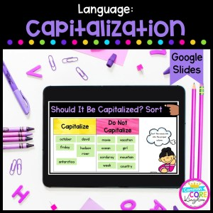 Capitalization Digital Activity for 2nd & 3rd Grade