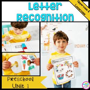 Letter Recognition Preschool Unit 1