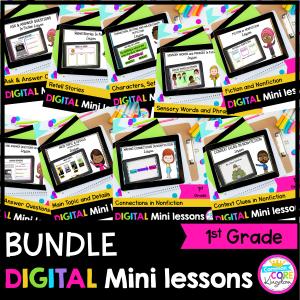 1st Grade Reading Mini Lessons GROWING Bundle - Google Slides & Seesaw