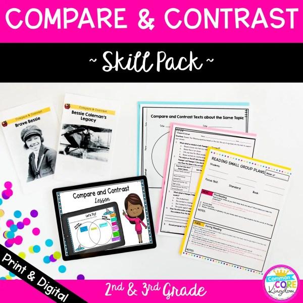 Compare & Contrast Skill Pack for 2nd & 3rd Grade RI.2.9 RI.3.9