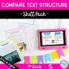 Compare Text Structure in Nonfiction Skill Pack - RI.5.5 in Printable & Digital Format