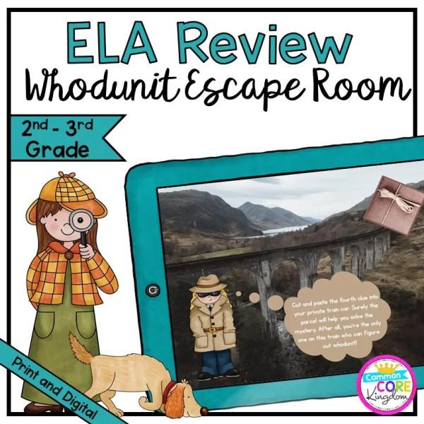 """Whodunit"" Reading Comprehension Escape Room - 2nd & 3rd Grade - Digital & Print"