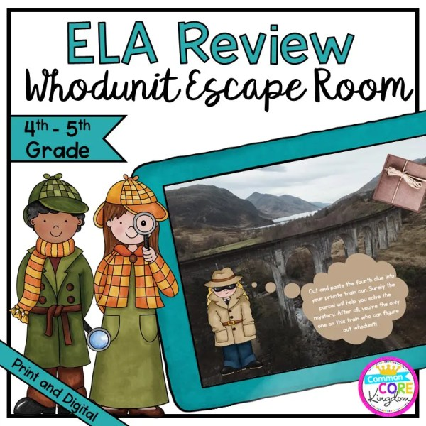"""Whodunit"" Reading Comprehension Escape Room - 4th & 5th Grade - Digital & Print"