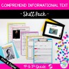 Skill Pack: Comprehend Informational Text - 4th & 5th Grade | RI.4.10 RI.5.10 Classroom & Distance Learning