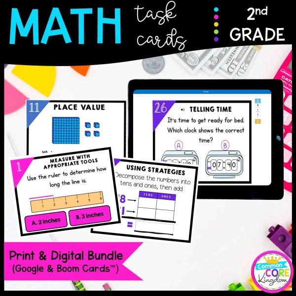 2nd Grade Math Task Card Bundle