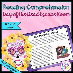 4th & 5th Land of the Dead Reading Comprehension Escape Room - Digital & Print