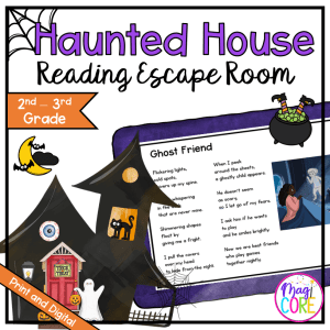 2nd & 3rd - Haunted House Reading Comprehension Escape Room - Print & Digital