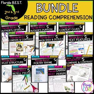 2nd-3rd Grade Florida BEST Standards - Reading Comprehension Bundle FL B.E.S.T.