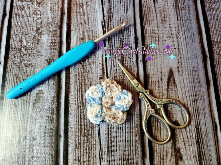 simple crochet flower