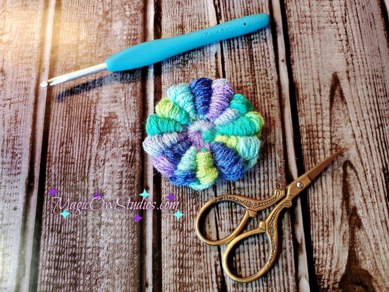 crochet bullion flower