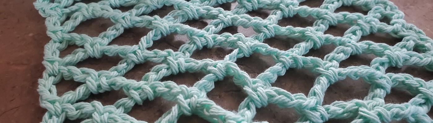 crocheted Diamond mesh