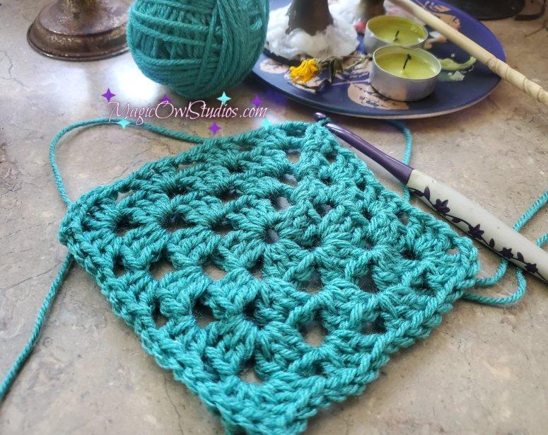 crochet grannies square