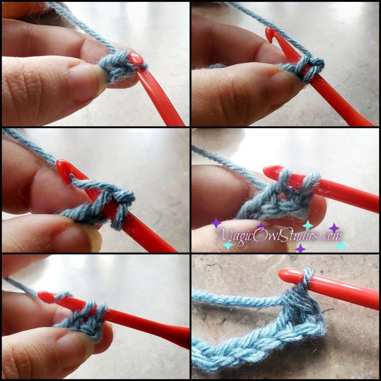 single crochet row 1