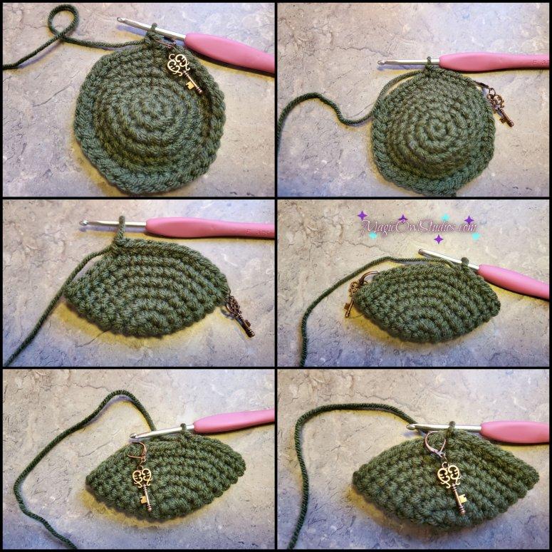 Crochet apple round 8