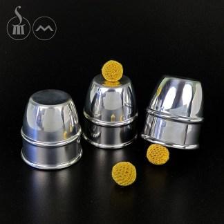 Morrissey Cups & Balls/Chop Cup Combination in aluminium (SMALL)