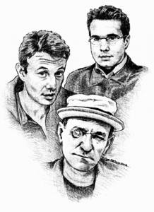 Trio : Alain, Alex et Jerome. Dessin de Richard Martens