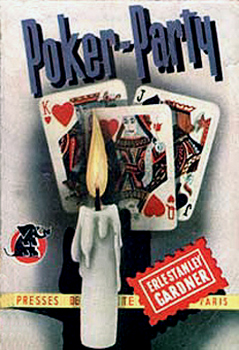 "Couverture de ""Poker-party, de Erle Stanley Gardner, éditions Presses de la Cité."