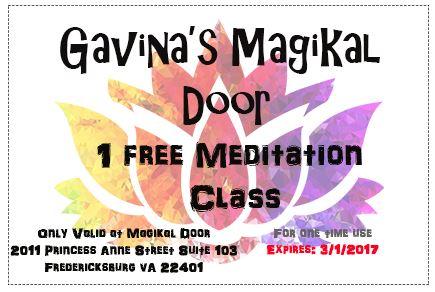 Gavinas Magikal Door Meditation, Meditation in Fredericksburg VA
