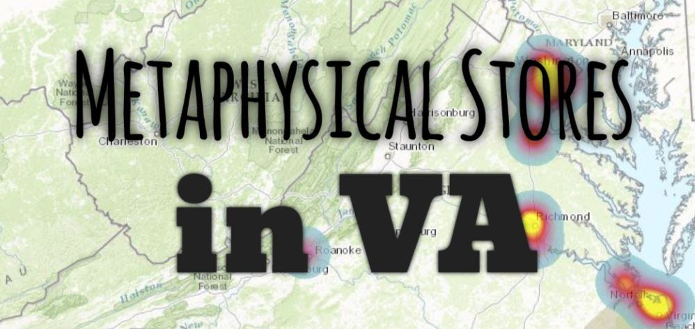 Metaphysical Stores in VA Map