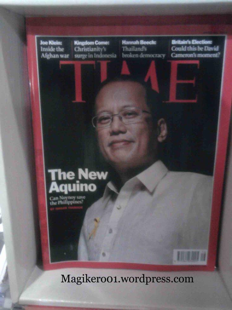 "Benigno ""Noynoy"" Aquino III on the cover of TIME Magazine ASIA."