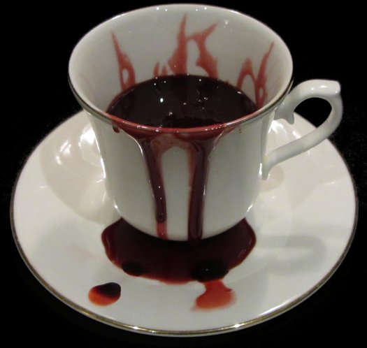 Blood tea, by Celia the Necromancer.