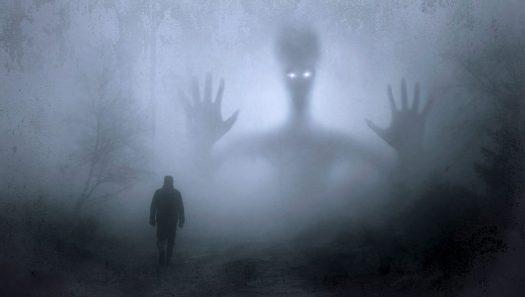 Spirits of Taiyougami, rising through the fog.