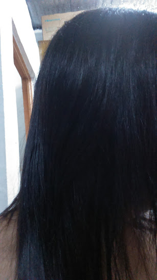 After washing with Piolang CP 1 Raspberry Hair Vinegar