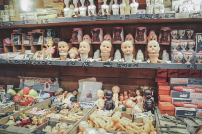 These look like some dark evil baby dolls from horror movies, you can also find in the market tons of weird stuffs like....wooden dildos.