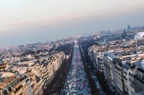 Height phobia made me not even brave enough to get a good angle. This, is Champs-Elysees!