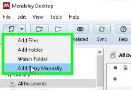 memulai menambah referensi Mendeley offline
