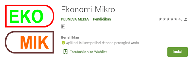 Media interaktif Android ekonomi mikro