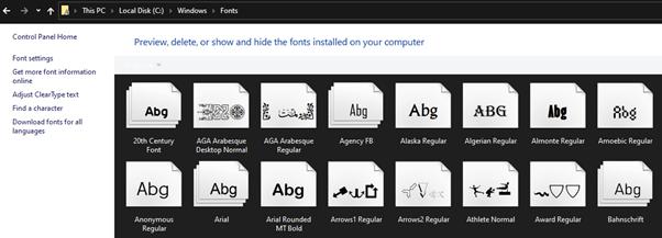 Font windows untuk WPS Android