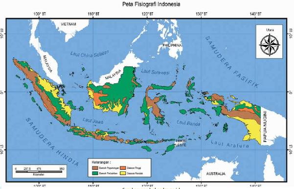 peta fisiografi Indonesia