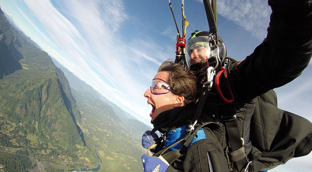 chili - pucon - saut parachute