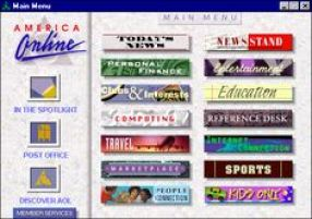 Then once you got in, these were your choices. This is the whole internet of 1995 right here.